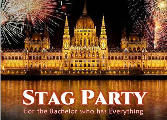 Stag Party: For the Bachelor who has Everything.
